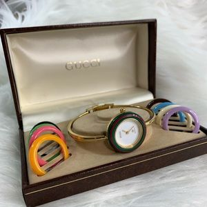 Gucci vintage watch/bezels. Quartz Swiss made